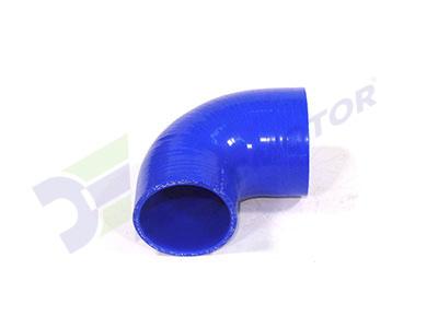 Medidas del codo en reducción de silicona en 90° de 64mm a 57mm de diámetro interno