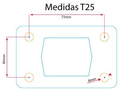 Medidas de los colectores de T25