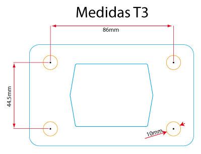 Medidas de los colectores de T3