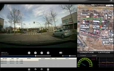 Visionado del recorrido de la cámara en coche con Google Maps. Click para pantalla completa.