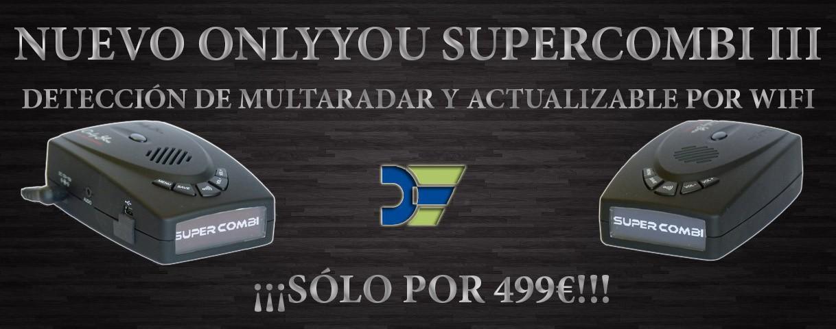 Nuevo Onlyyou Supercombi III con detección de Multaradar y actualizable por WiFi